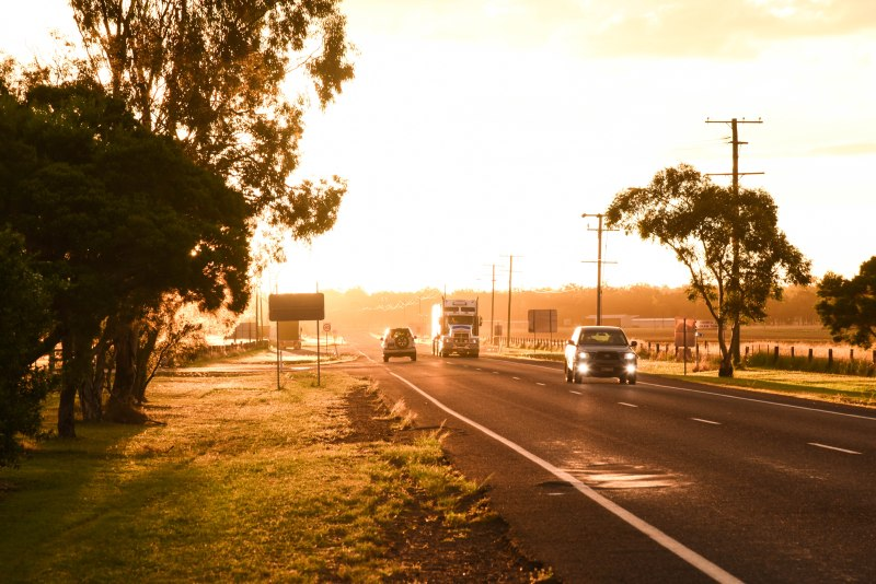 Heading home - the road just outside Millmerran towards Goondiwindi.