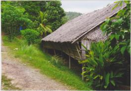 The Longhouse at Rungus village.