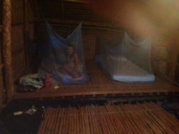 Sleeping conditions in the Longhouse.